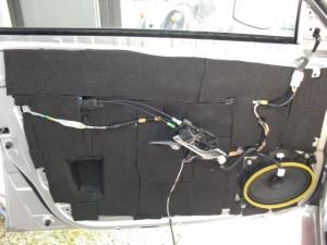 ■ドア■ フロントドアのデッドニング&防音対策のやり直し その2(マークX) [写真33]
