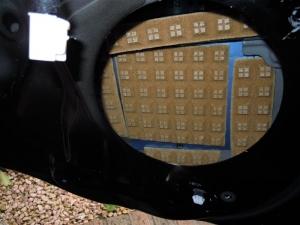 ■ドア■ リアドアのデッドニング・防音対策 左側 その2 デッドニング(プリウスα) [写真3]