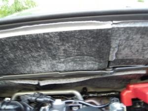 ■エンジンルーム■ エンジンルーム側バルクヘッド上部の防音対策(デッドニング) その4[軽自動車:ワゴンR] [写真1]